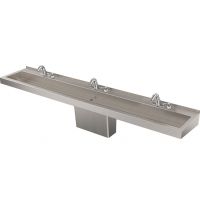 DSW390 Deluxe Three-Station Hand Wash Trough Sink