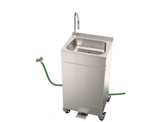 EPS1115 Hose Supply/Waste Foot Pedal Operated Portable Sink