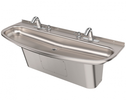 Two-Station Ellipse Hand Wash Sink