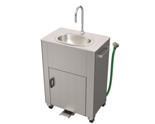PS1120 Hose Supply/Waste Tank Foot Pedal Operated Portable Sink