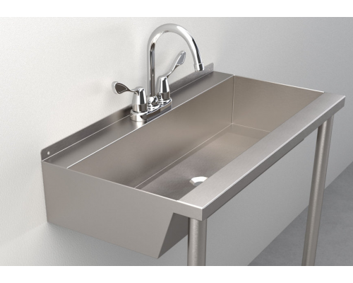 One-Station Trough Sink