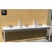 Three-Station Trough Sink