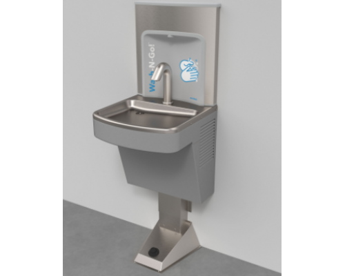 EZ Wash-N-Go! Wall Mounted Foot Operated Hand Washing Station